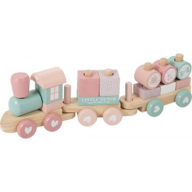 Train à blocs adventure pink Little Dutch